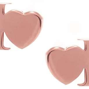 Orecchini argento rosato