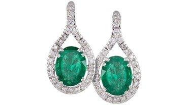 Orecchini smeraldo e diamanti